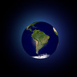 Mondo terra globo America latina