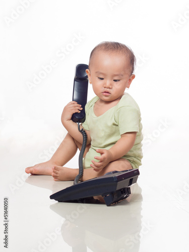 baby calling on the phone