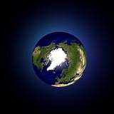 Mondo terra globo Artide