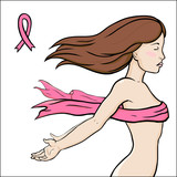 Concept image of health, breast cancer awareness