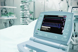 Medical monitor in the intensive care unit. Medical technology.
