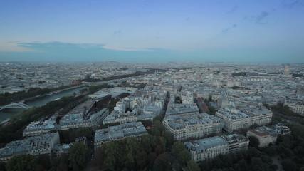 Панорамный вид Парижа с высоты птичьего полета