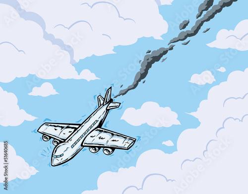 falling airplane
