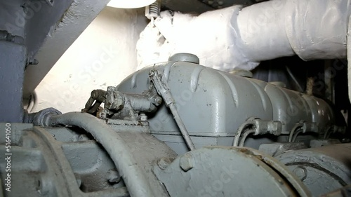 Hand Operating Lever On Ship's Engine
