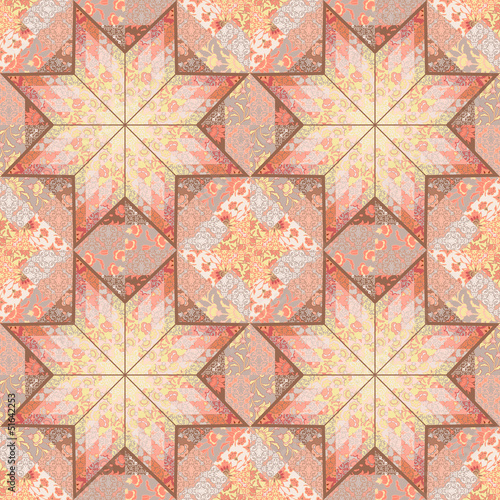 Quilt seamless pattern background star design