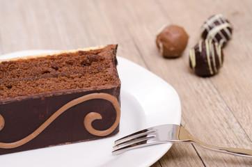 Kuchen aus Schokolade