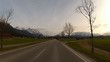 Driving in Bavarian Alps