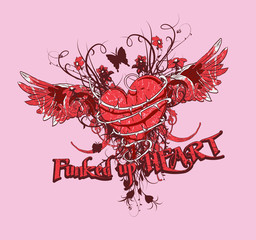Funked up heart