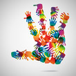 Hand Print icon, vector illustration