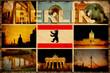 Retroplakat - Berliner Postkarte