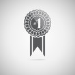 Black award icon, vector illustration