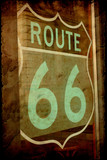 Retroplakat - Route 66