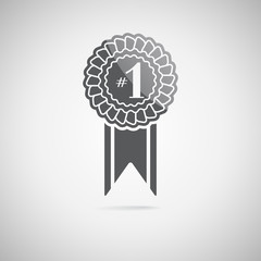 Black award icon, vector illustration