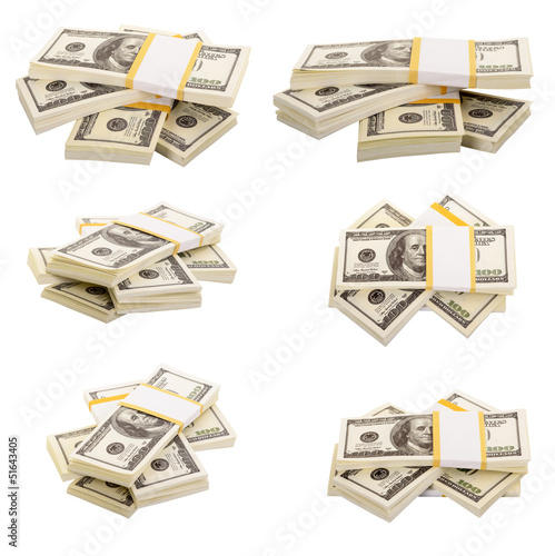 The stack of dollars