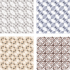 seamless vintage backgrounds set brown baroque Pattern set