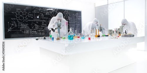 people working in a chemistry lab