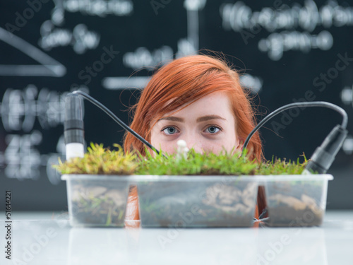 chemistry lab grass experiment