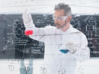researcheranalyzing substances