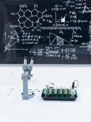 chemistry laboratory set up