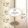 Beautiful wedding invitation card in pastel colors