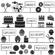 Confectionery symbols set