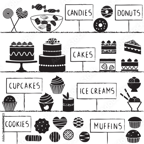 Confectionery symbols set