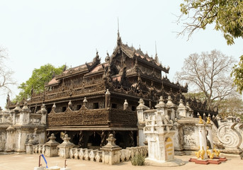 Shwenandaw Monastery in Mandalay, Burma.