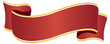 Ribbon wide red with golden border