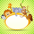 vector illustration of cute animal in baby shower invitation