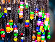 Hair braiding with colorful beads