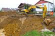 Bauaushub - Neubau eines Hauses