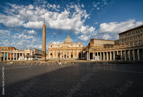 Saint peter square in Vatican City