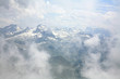 Clouds and pinnacles of French Pyrenees mountains Pic du midi