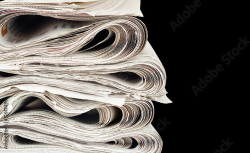 newspaper stack