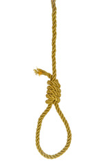 Hanging noose on golden rope