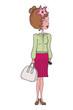 illustration of a fashion girl