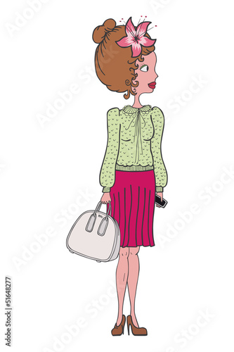 illustration of a fashion girl