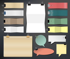 Collection of various papers, Vector illustration