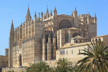 Palma Cathedral City Walls Majorca