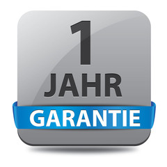 1 Jahr Garantie Button