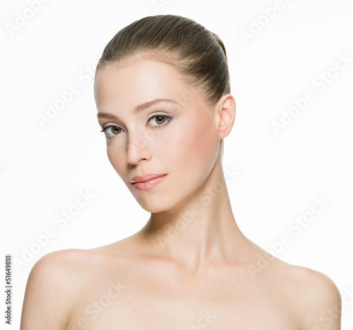 Beauty face of an young woman with clean skin