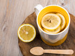 Tea with lemon and ginger as natural medicine