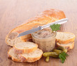bread toast and meat spread