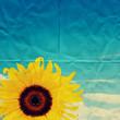folded sunflower paper