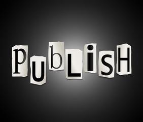 Publish concept.