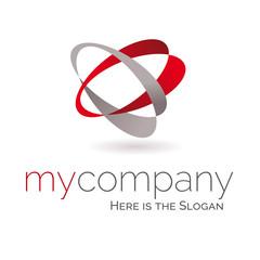 Template logo 3d société business