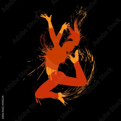 Fototapeten,feuer,tanzenfeiern,mädchen,springen