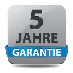 5 Jahre Garantie Button