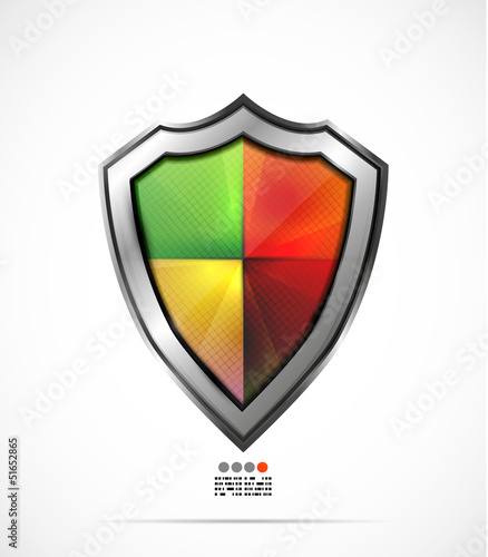 Colorful protection shield