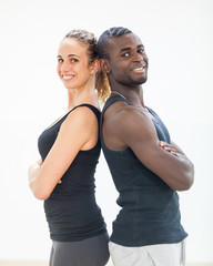 Young Couple with Gym Clothes